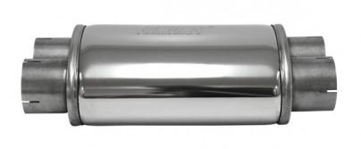 V2A Schalldämpfer oval 2x76mm rein 2x 76mm raus für Sportauspuff Type 5
