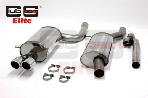 """Audi S4 B5 2.7T V6 Abgasanlage Clubsport Elite 3"""" / 76mm V2A mit EG Betriebserlaubnis"""
