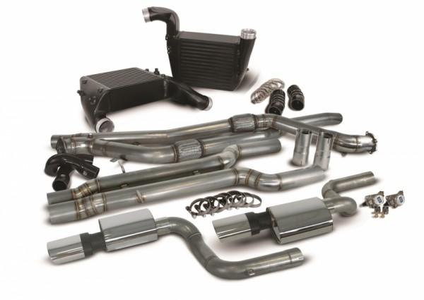 "Audi RS6 4F C6 5.0 V10 Performance Paket: Ladeluftkühler EVO1, 3"" Downpipes und 3"" Sportauspuff RACI"