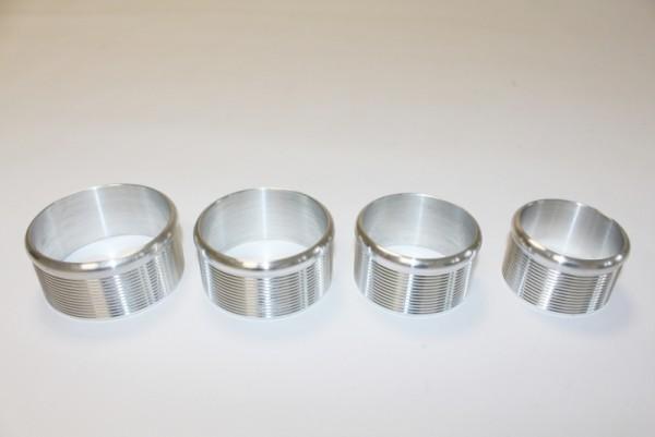 Ladeluftkühler Anschluss Stutzen CNC gedreht 76mm