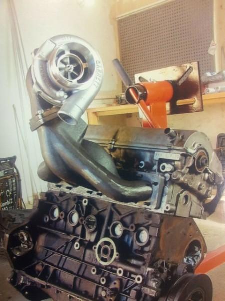 Audi S4 C4 2.2 20V 5Zyl. Top Mount Edelstahl Guss Stoßaufladungskrümmer 1000PS