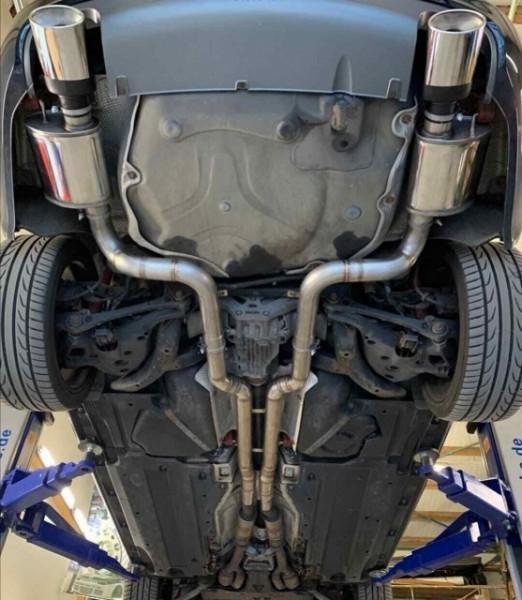"""Audi A6 4F 3.0TFSI V6 Quattro 3"""" Sportauspuff Abgasanlage Clubsport Elite Street mit EG Betriebserlaubnis"""