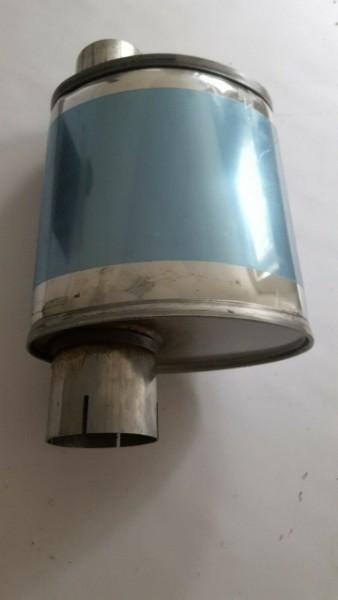 V2A Schalldämpfer oval 76mm Sportauspuff Type1