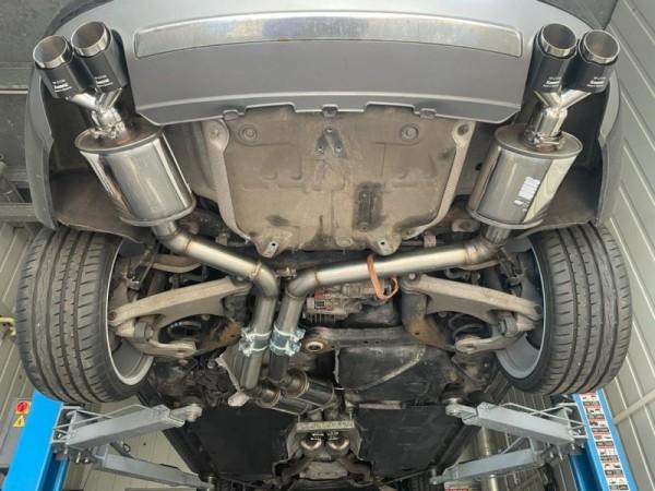 Audi S4 V6 / RS4 V8 B8 Sportauspuff 2x 76mm Edelstahl Anlage mit EG Betriebserlaubnis